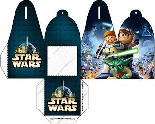 Caja para cupcakes, chocoltes o golosinas de Star Wars Lego.