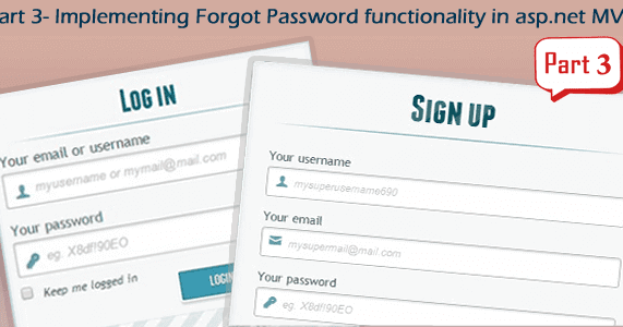 Part 3 - Implement forgot password functionality in asp net MVC