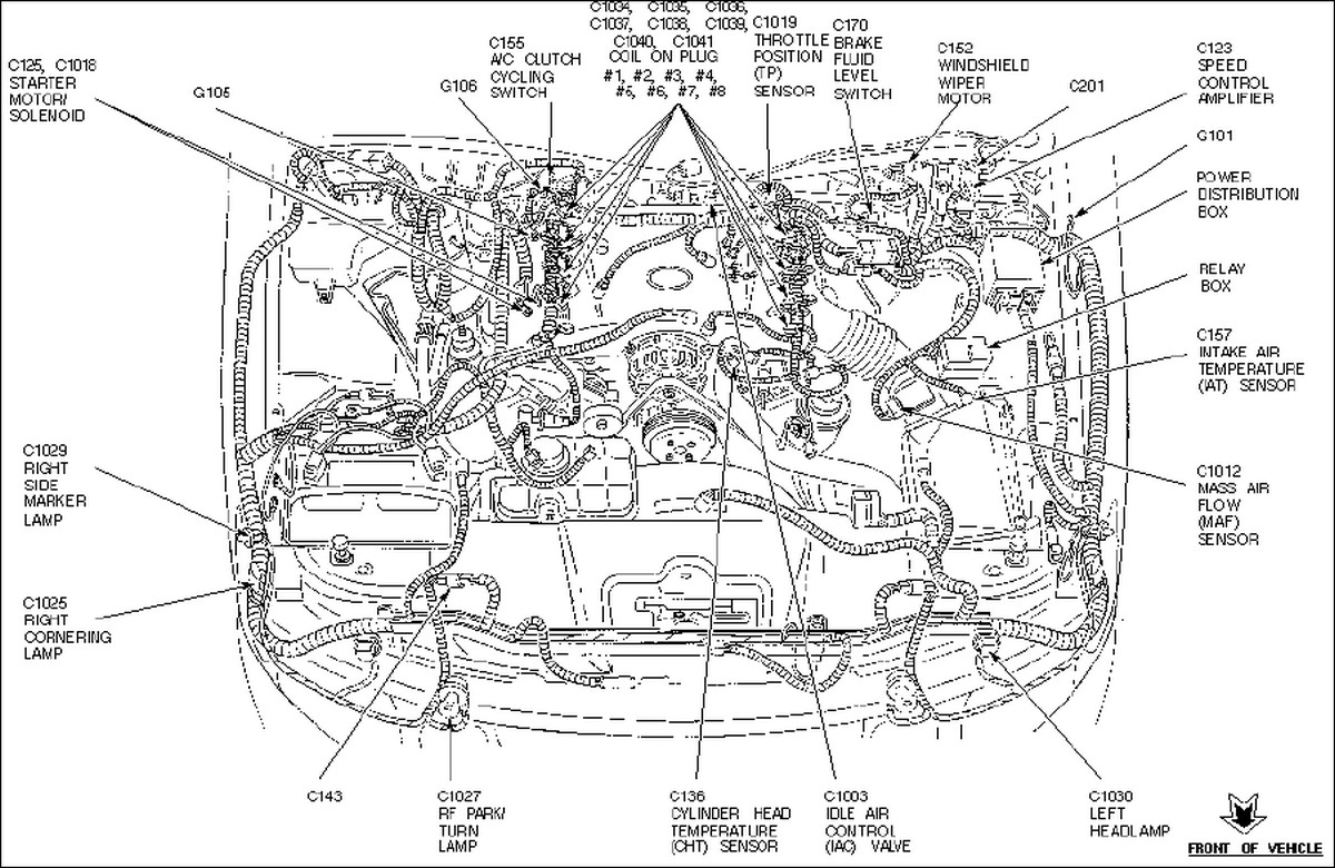 98 lincoln town car heating system diagram