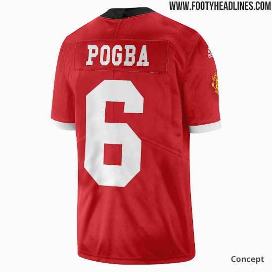 newest 8f109 3bce1 Adidas Manchester United American Football Jersey Concept ...