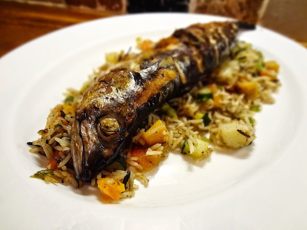 Grilled Jerk Mackerel & Vegetable Rice