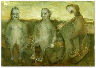 Iberê Camargo - Crepúsculo da Boca do Monte (1991) - óleo sobre tela