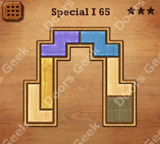 Cheats, Solutions, Walkthrough for Wood Block Puzzle Special I Level 65