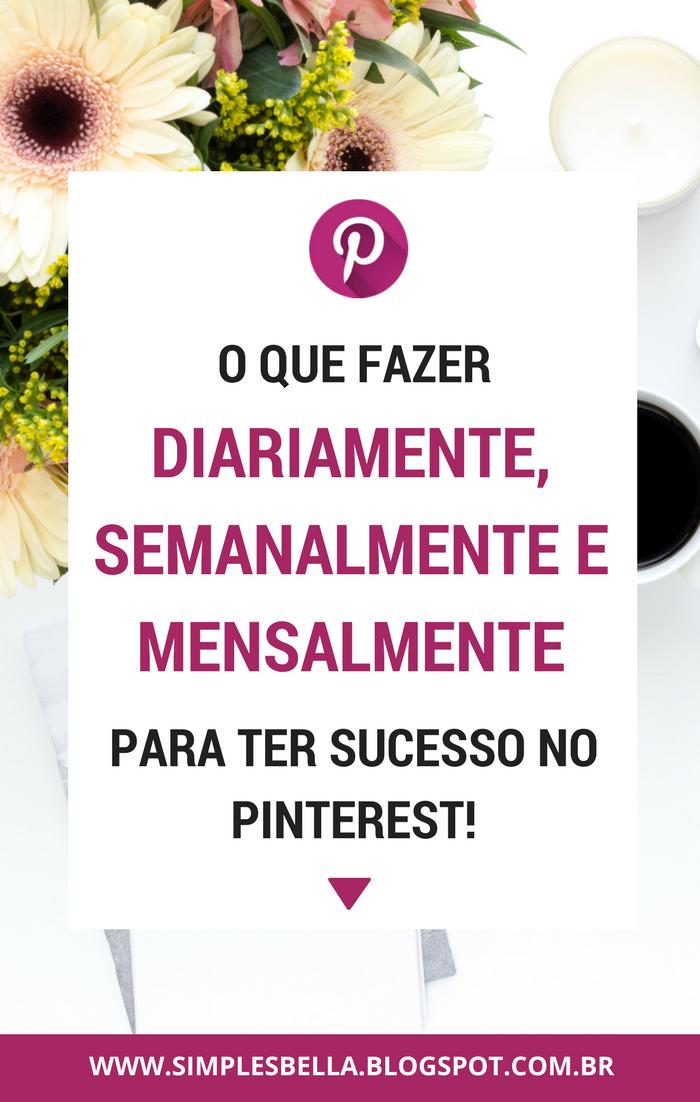 Plano de ação para o Pinterest