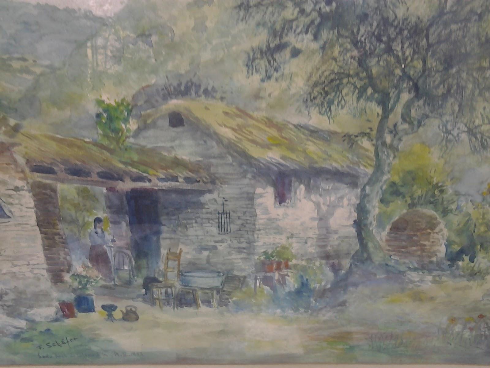 Antiguedades en cordoba argentina acuarela a o 1953 - Muebles antiguos cordoba ...