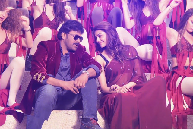 chiranjeevi, kajal agarwal pics in You and me song stills from khaidi no 150