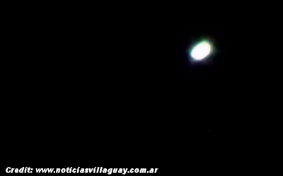 Thousands of Residents Witness UFO Over Gualeguaychú, Argentina 12-30-2014