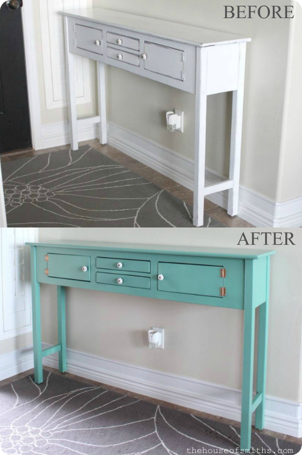 before and after entryway table - thehouseofsmiths.com