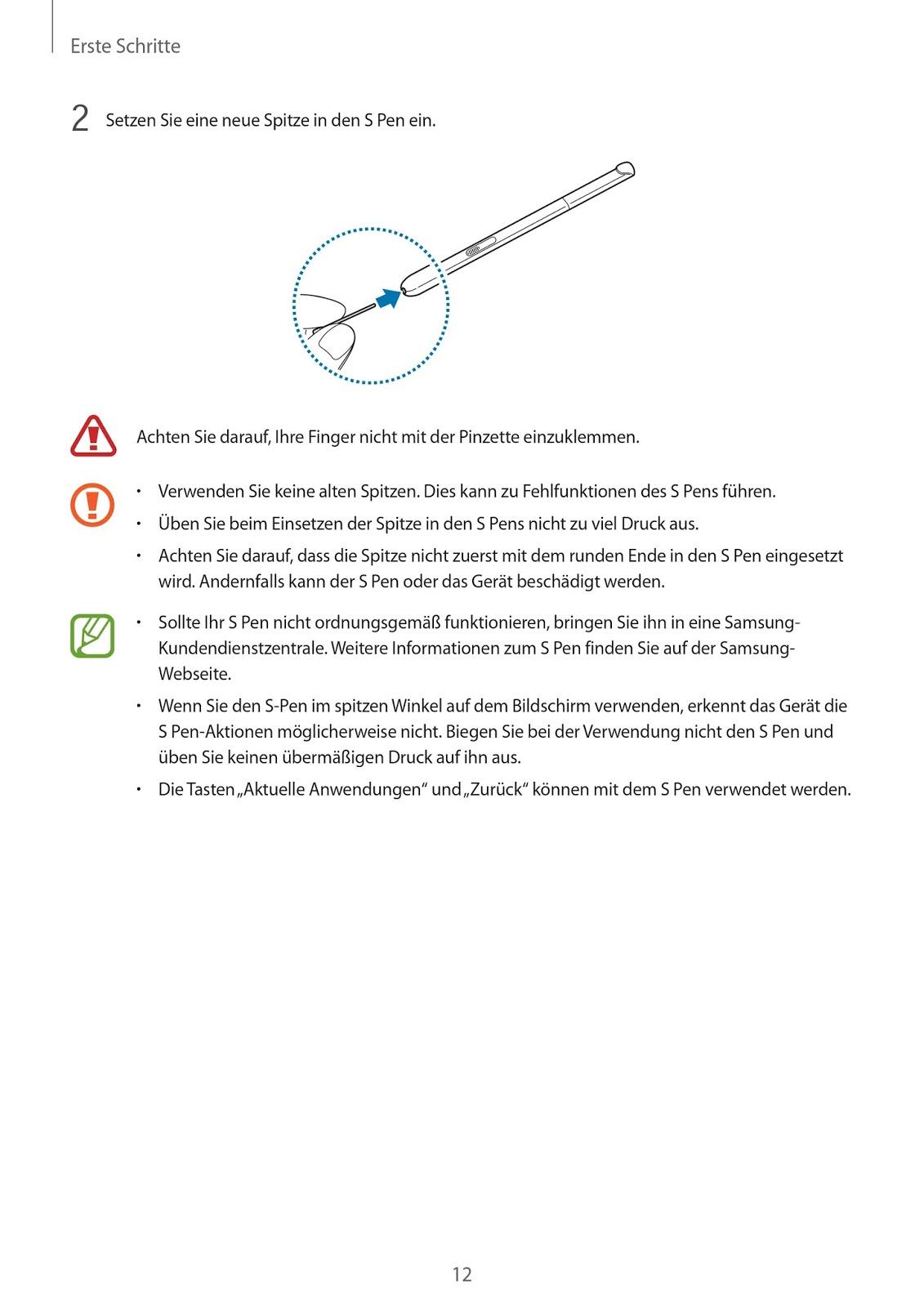 Bedienungsanleitung Galaxy Tab A