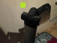 Scharnier: CRECO 7W LED Tischlampe 5 Helligkeitsstufen 3 Modi dimmbar 270° drehbar Schreibtischlampe Schwarz [Energieklasse A+]