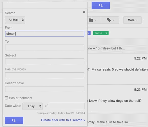 New Gmail Search