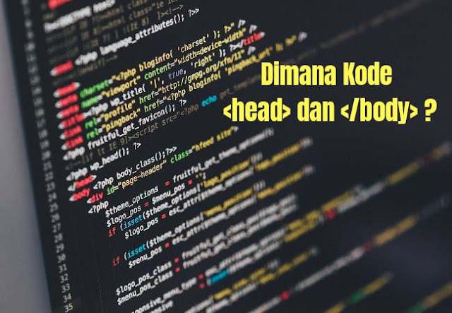 Pengganti kode head pada template blog