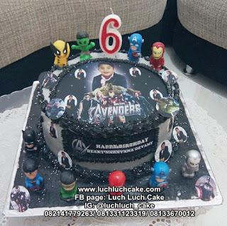 Kue Tart Ulang Tahun Edible Foto Avengers