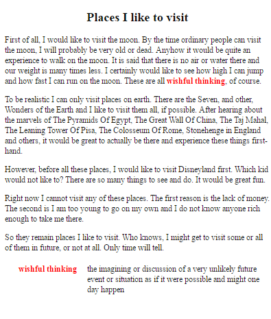 descriptive essay on a place you would like to visit