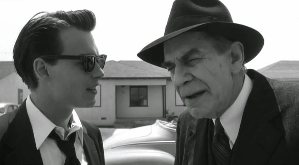 Ed Wood (1994), Directed by Tim Burton, starring Johnny Depp, A Still from the movie