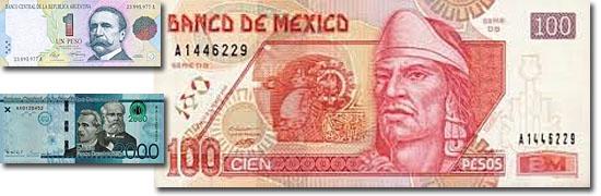 Dinheiro do mundo -Pesos