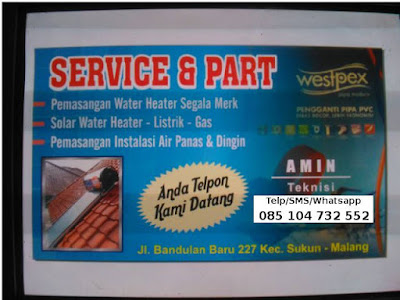 service water heater malang