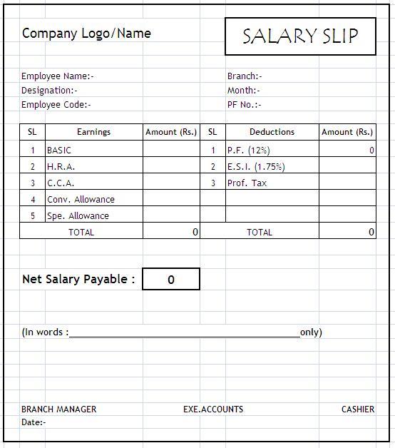 Doc696421 Payroll Slip Salary Slip Format 86 More Docs – Payslip Template Word Document