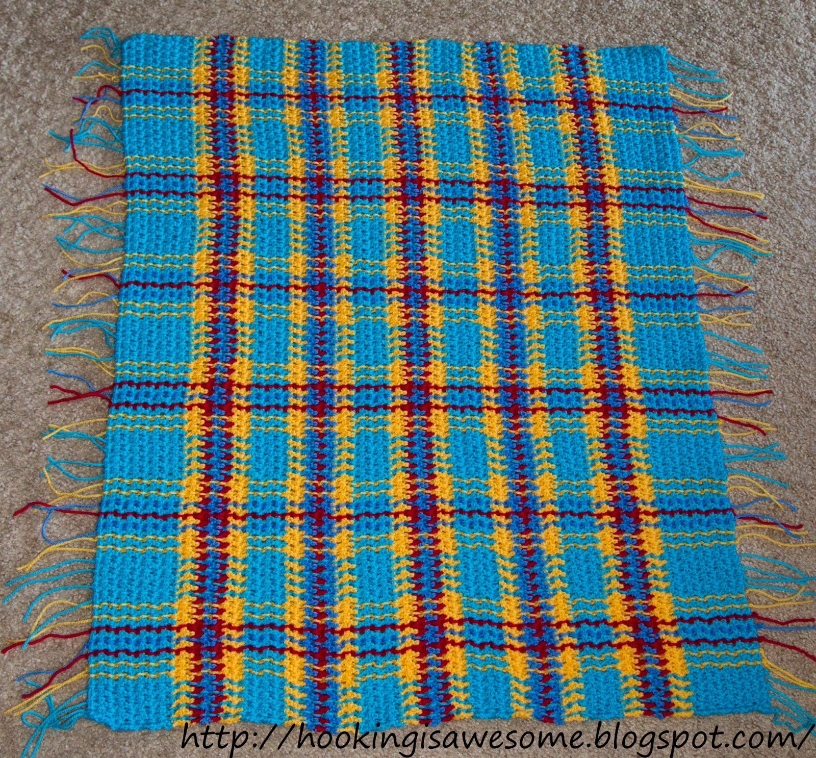 Hooking is Awesome: My Hooked & Woven Baby Blanket Pattern