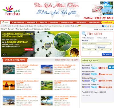 Thiết kế website du lịch thu hút hàng nghìn khách hàng đến thăm