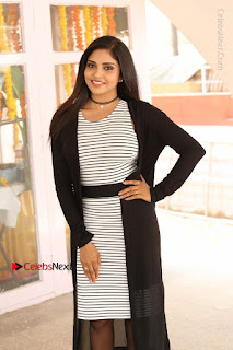 Telugu Actress Karunya Chowdary Stills in Black Dress at Soda Goli Soda Movie Opening  0004.JPG