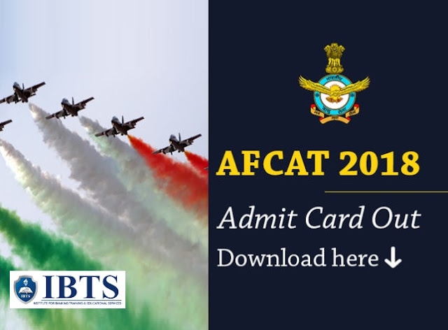 AFCAT Admit Card 2018 Out | Download Direct Call Letter