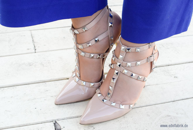 Alternative, Valentino, Rockstudded High Heels, Nude, Lackleder