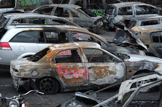 thousand cars were burned across France
