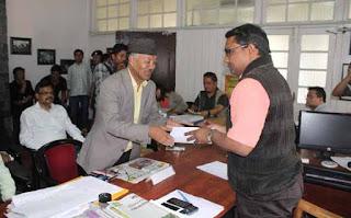 JAP candidate dr harka bahadur chettri filing nomination