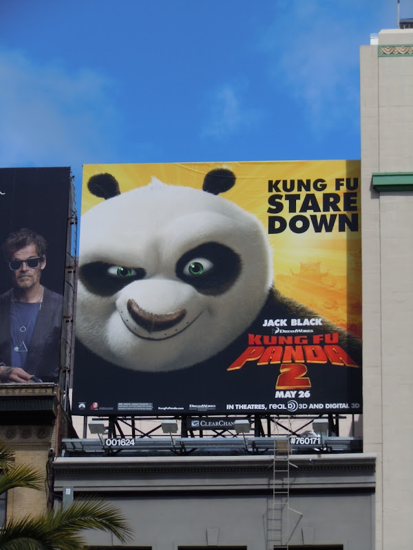 Kung Fu stare down billboard