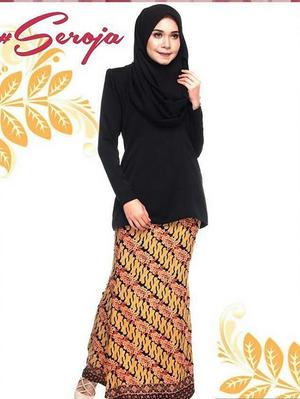 Baju kurung rok panjang kombinasi batik