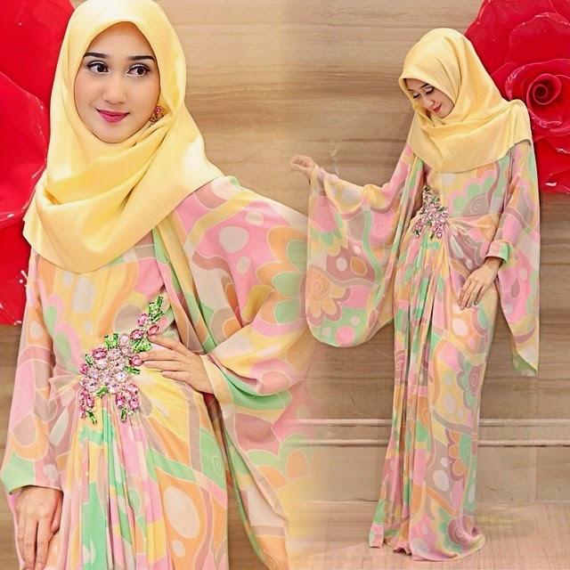 Contoh Dress Muslim Wanita Terbaru 2015