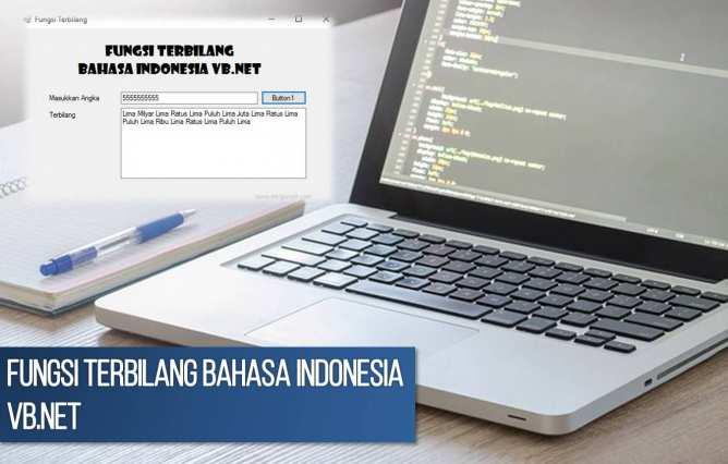 Cara Membuat Fungsi Terbilang Bahasa Indonesia VB.Net, Cara memasang fungsi terbilang vb.net