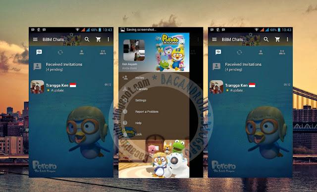 download BBM Mod Clone Tema Pororo Versi 2.13.1.13 Terbaru