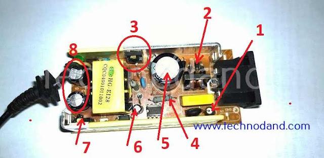 cara memperbaiki adaptor 9v 12v 24v