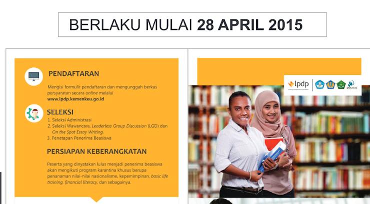 JADWAL SELEKSI BEASISWA PENDIDIKAN INDONESIA  April 201 5