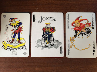 Three Classic playing card jokers