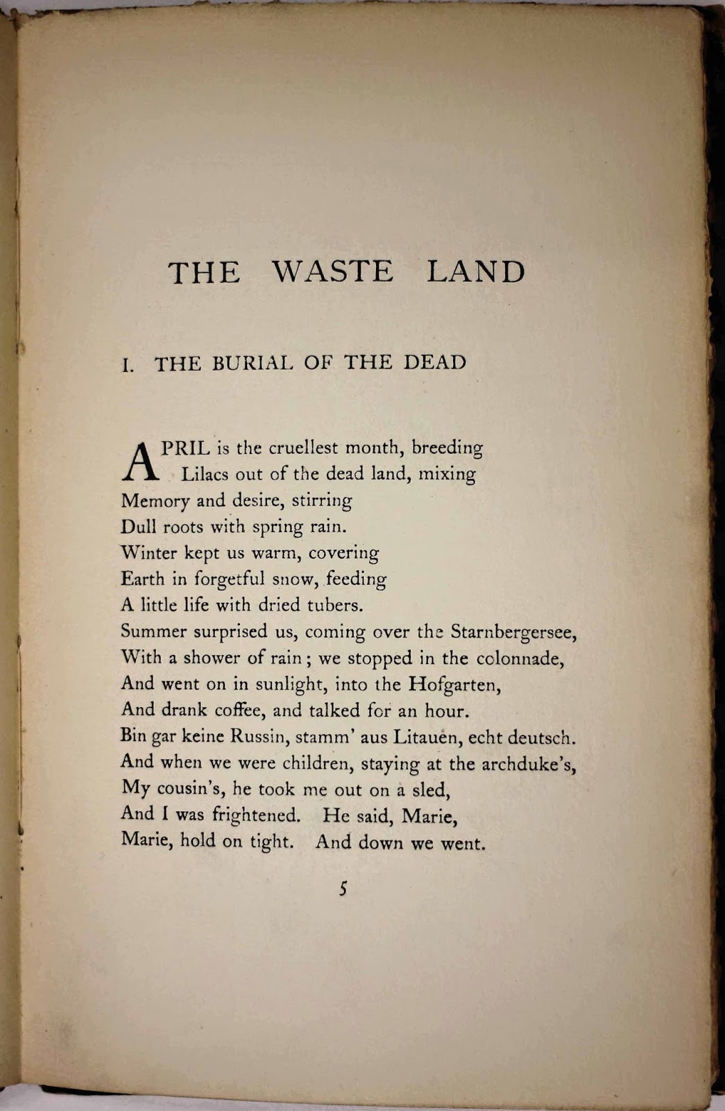 an analysis of the poem the waste land by ts eliot The waste land by t s eliot: critical analysis eliot's the waste land is an important landmark in the history of english poetry and one of the most talked about poem of the 20th century.