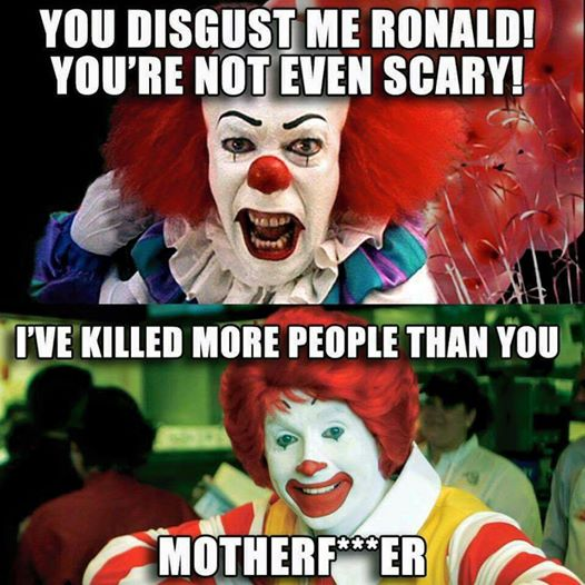 Pennywise vs Ronald McDonald