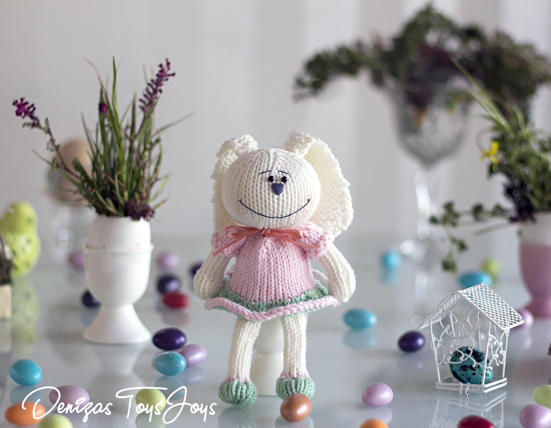 Denizas Toys Joys: Bunny Egg cozy. Free knitting pattern.