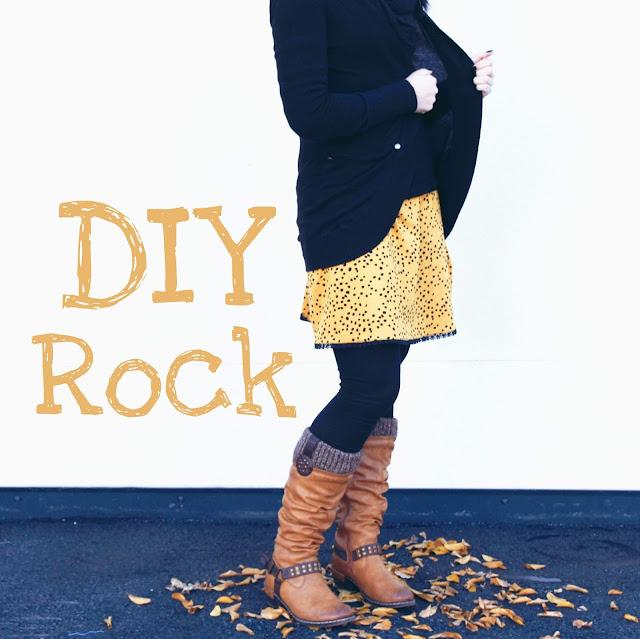 rock diy, grinsestern, nähanleitung rock