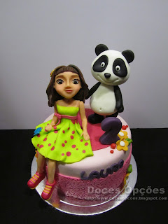 O Panda e a Xana toc toc foram ao 2º aniversário da Laura