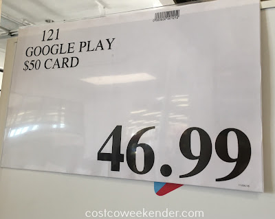 Deal for the Google Play $50 Gift Card at Costco