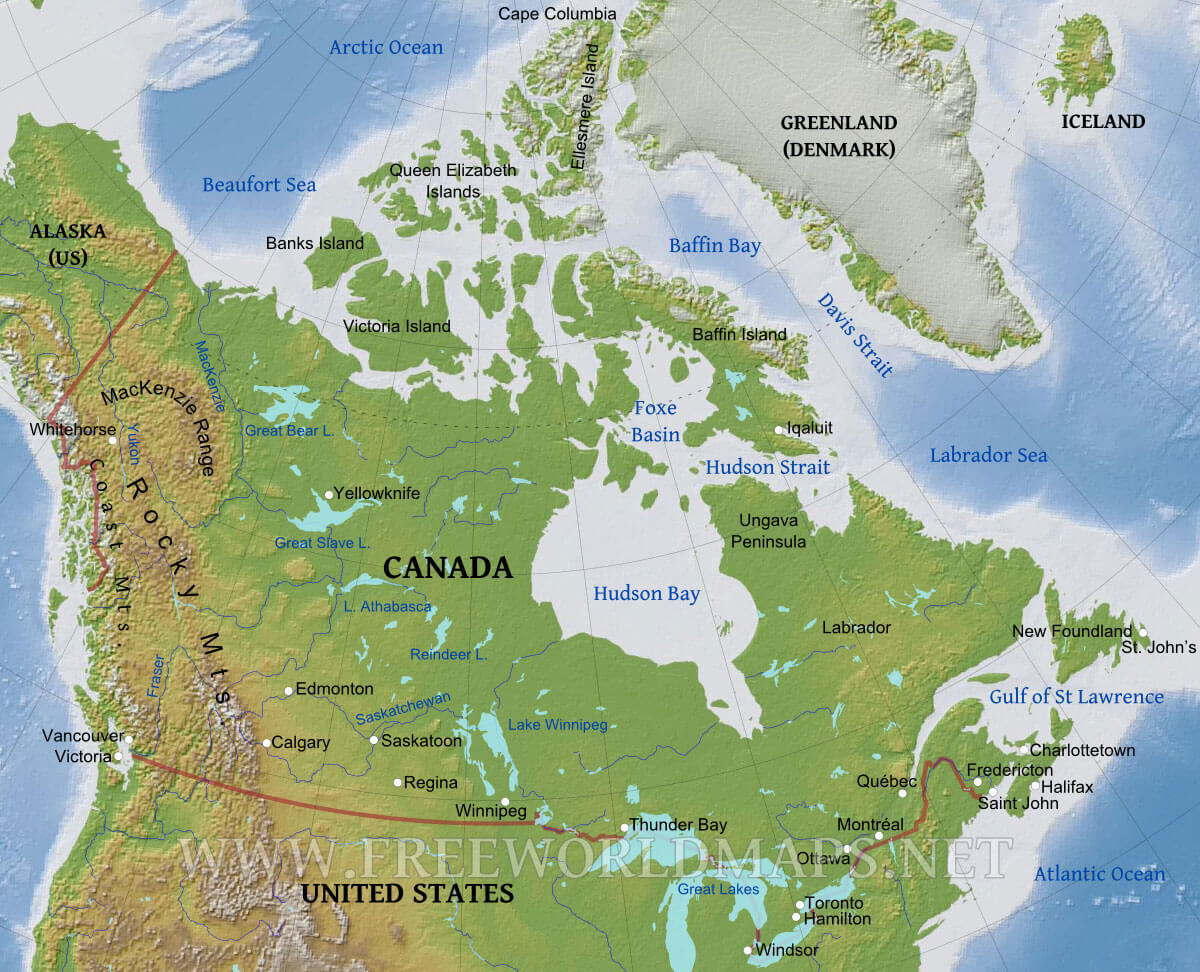 Image of: Us And Canada Physical Map Worksheet Printable Worksheets And Activities For Teachers Parents Tutors And Homeschool Families