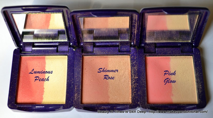 Oriflame Illuskin Blush Luminous Peach,Shimmer Rose, Pink Glow