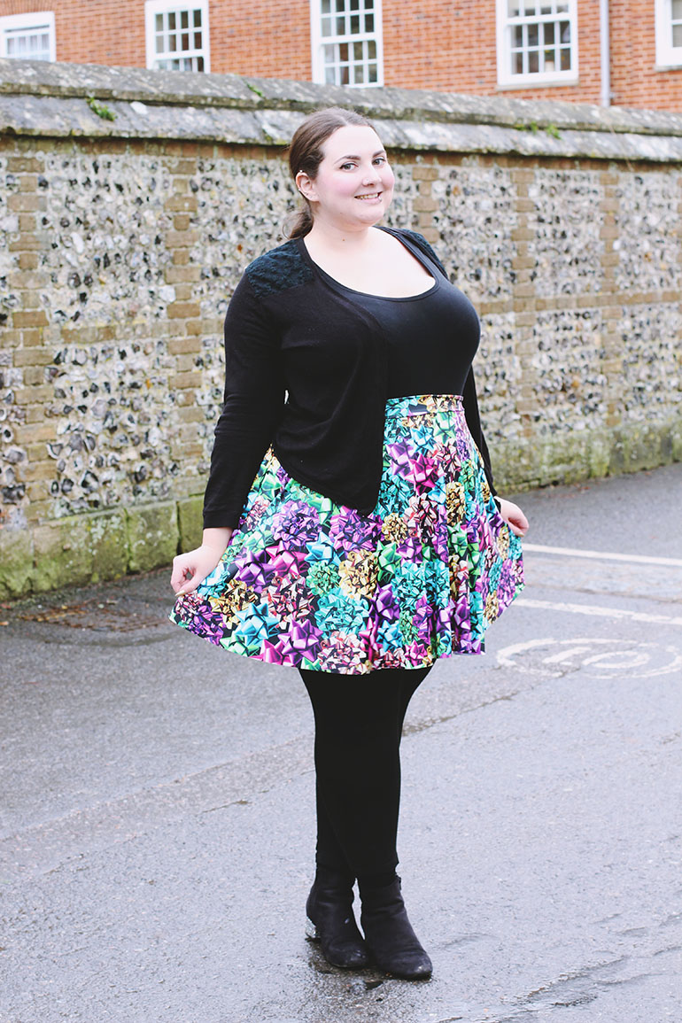 Black Milk Wrapped Up Pocket Skater Skirt