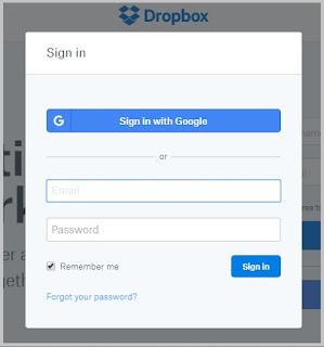cara menyimpan file di dropbox
