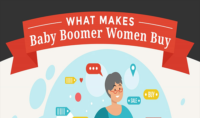 What Makes Baby Boomer Women Buy #infographic