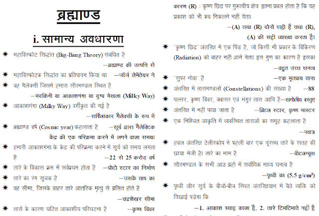World Geography Notes in Hindi PDF Download
