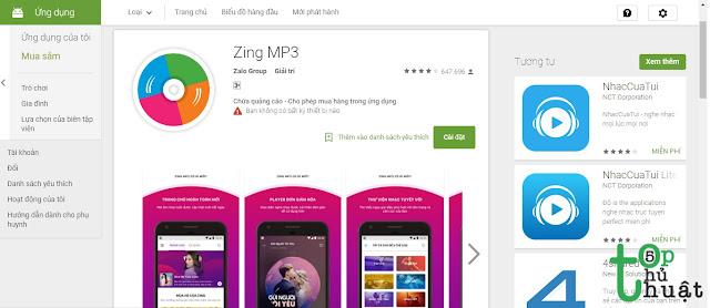 Phần mềm nghe nhạc miễn phí: Zing MP3